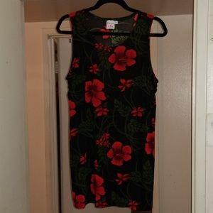Tops - Tropical Hawaiian Floral sleeveless shirt LIKE NEW